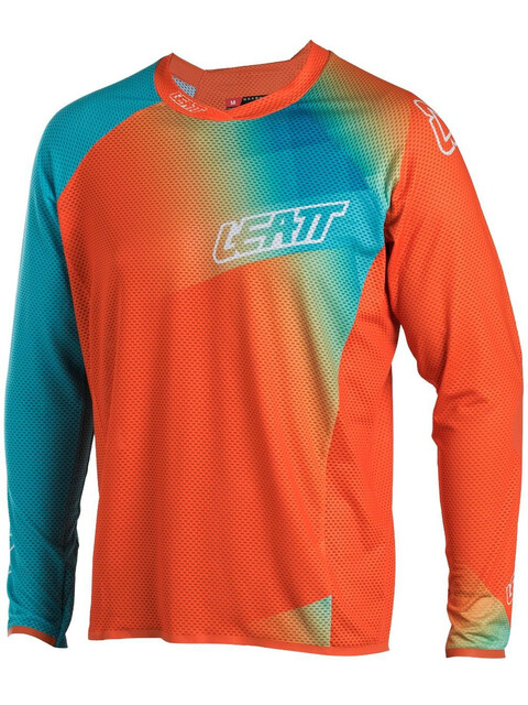 Leatt DBX 4.0 Ultraweld Jersey Men Orange/Teal